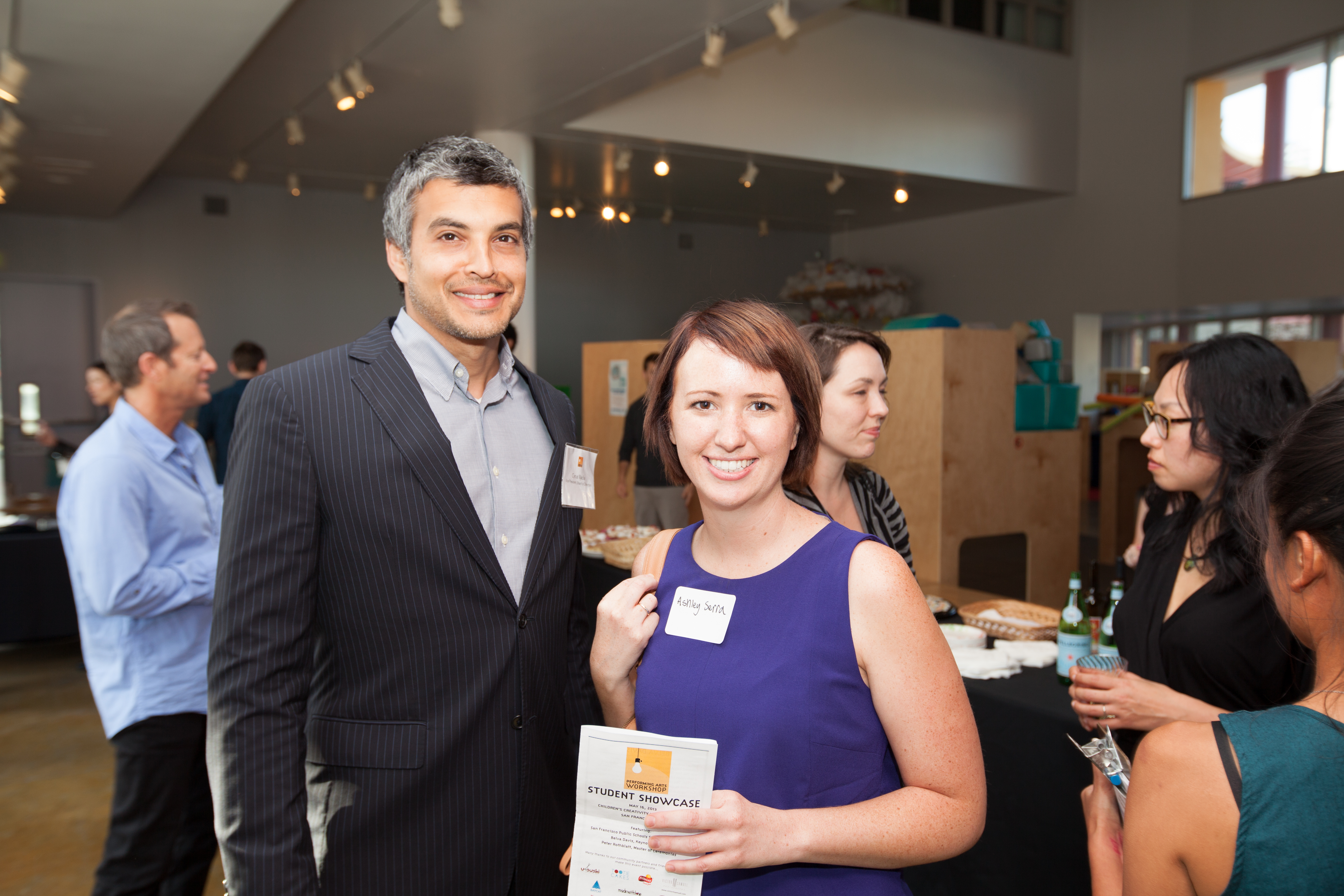 Board President Cyrus Wadia and Board Member Ashley Serra